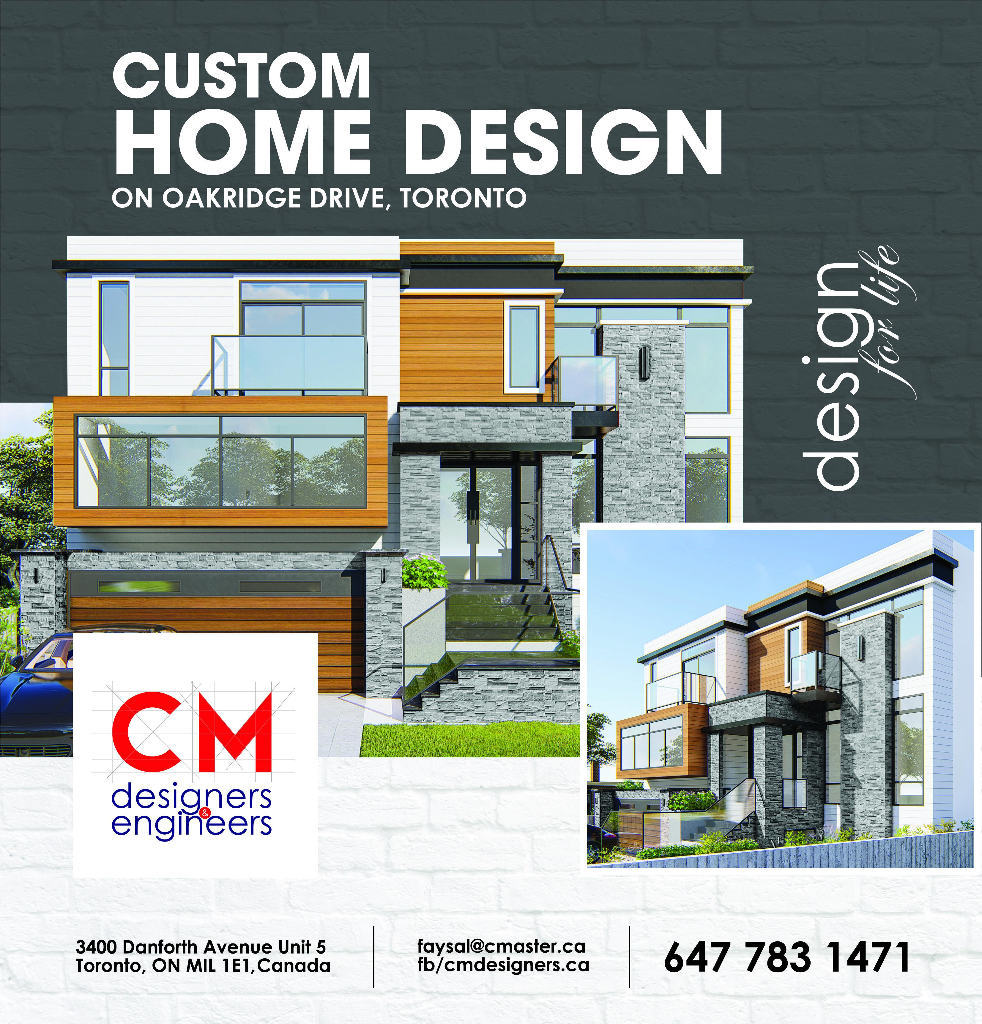 Custom Home Design On Oakridge Drive Toronto Custom Home Designs Design Custom Homes