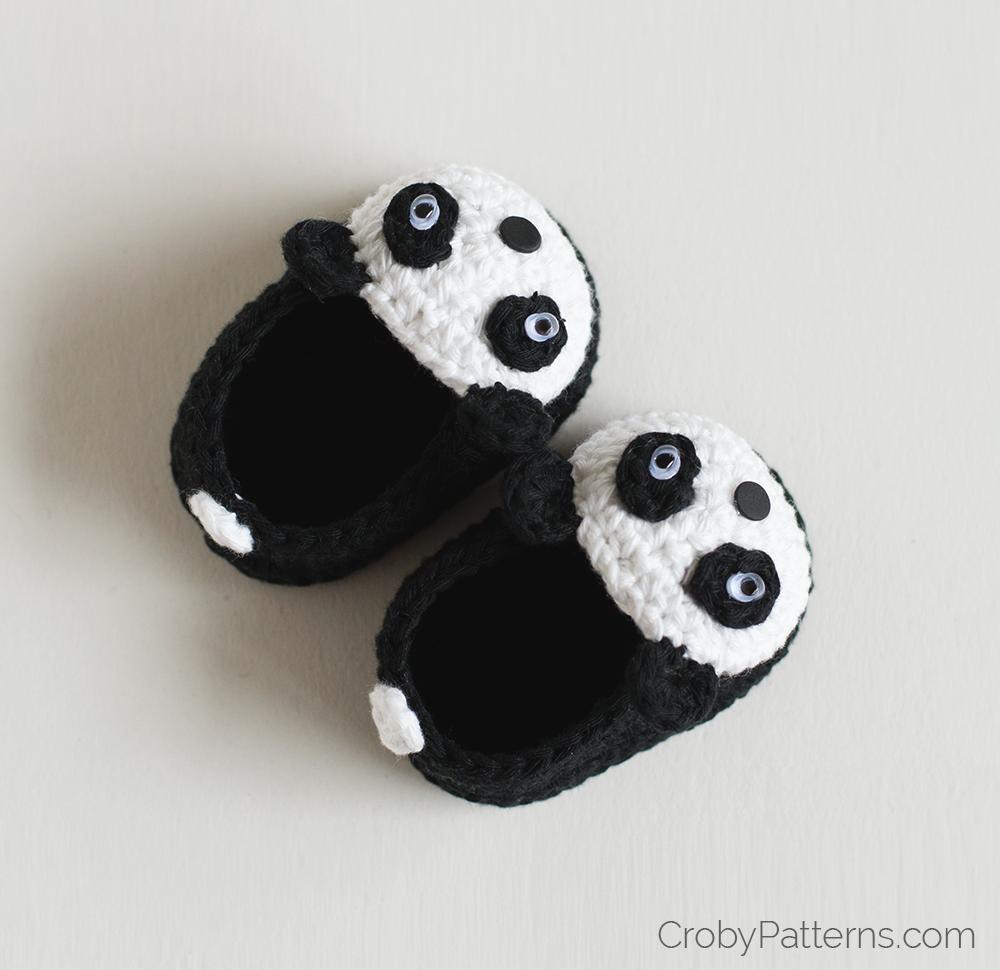 Free Crochet Pattern Panda Baby Booties | Crochet Stitches ...