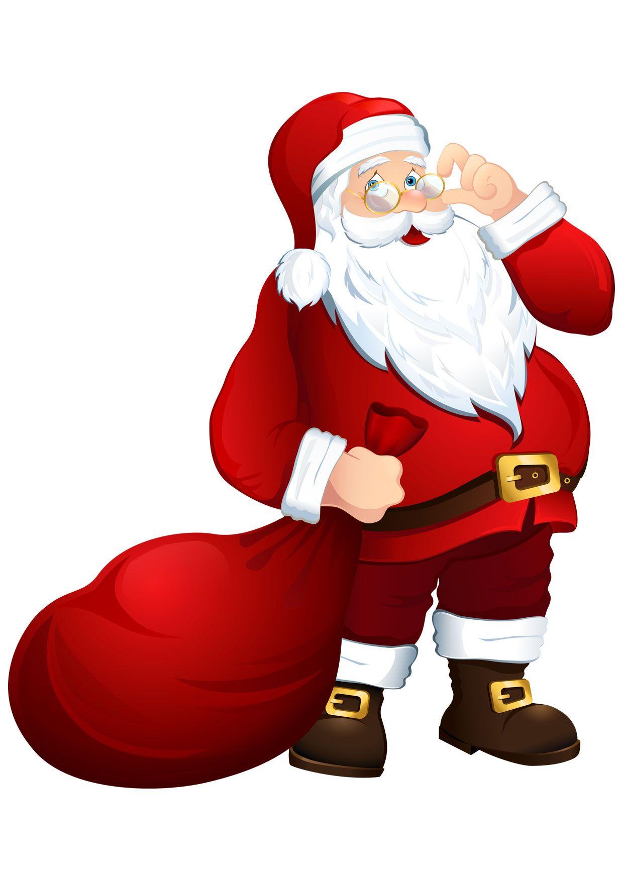 Immagini Colorate Di Babbo Natale.30 Disegni Di Babbo Natale Gia Colorati Da Stampare Babbo Natale Natale Disegni
