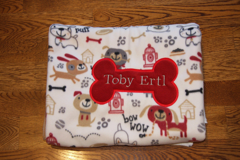 REVERSIBLE Custom Dog Blanket Personalized Pet Blanket