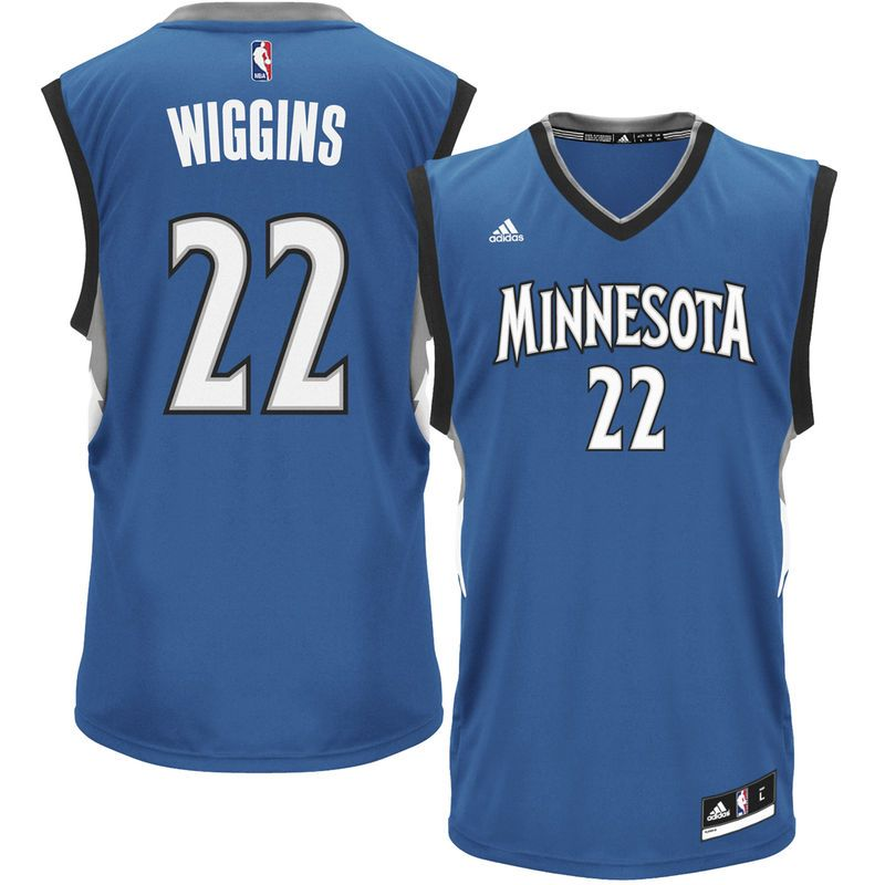 17b04a237 Andrew Wiggins Minnesota Timberwolves adidas Youth Boy s Replica Jersey -  Blue