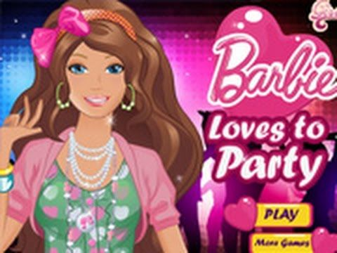 Barbie Games - Barbie Loves to Party Dress Up Game - Free Games For Girls