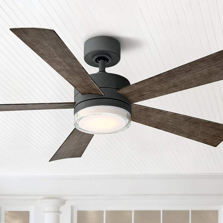 52 Modern Forms Wynd Graphite Led Wet Ceiling Fan 58r75 Lamps Plus In 2020 Ceiling Fan Outdoor Ceiling Fans Living Room Ceiling Fan