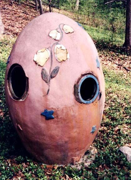 the hollow egg in the holiday part of Storybook Land