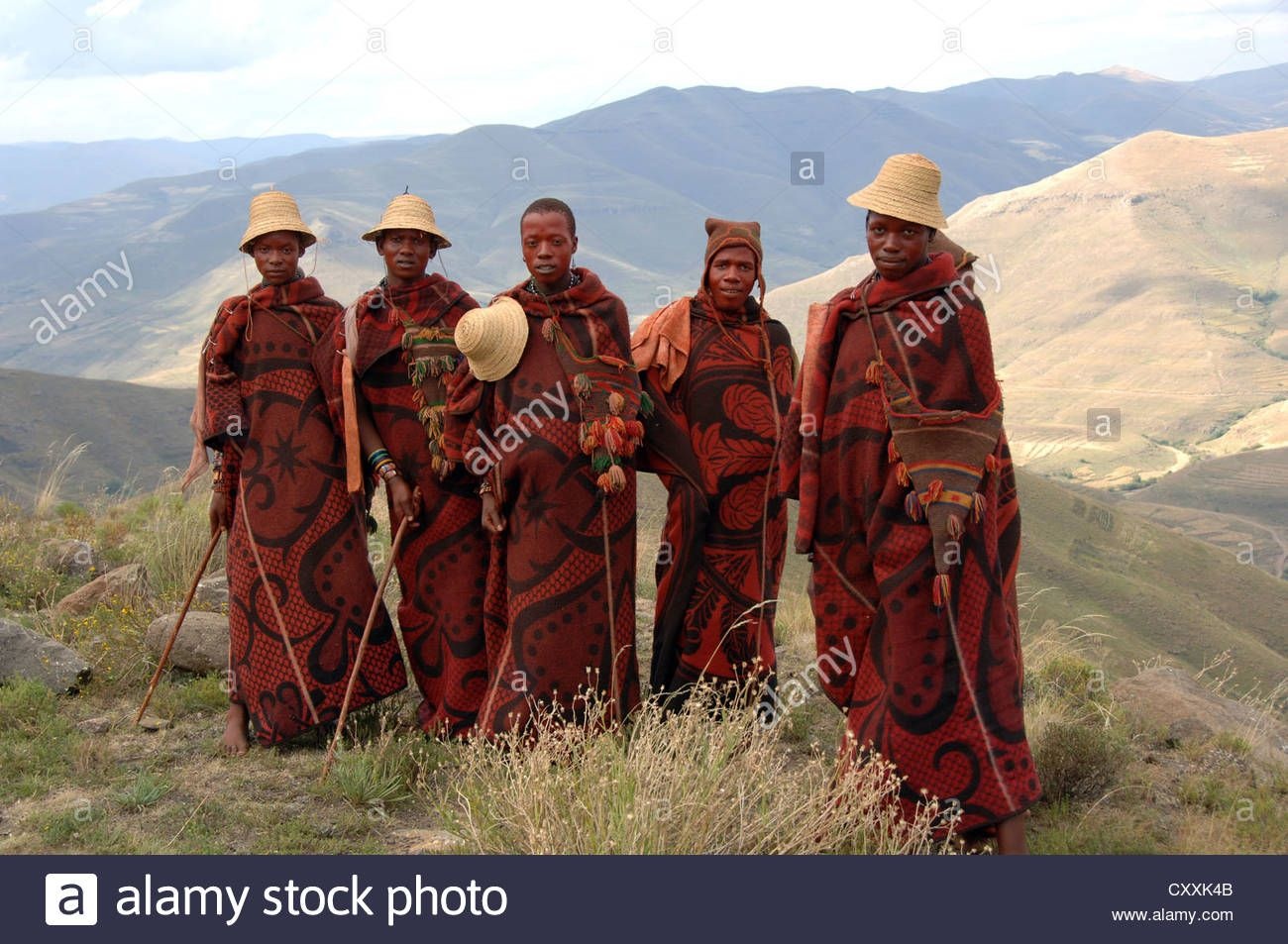 Group Of Young Basotho Men Wearing Traditional Basotho Blankets In Stock Photo Royalty Free Image 50987563 Alamy Basotho Photo Grouping Fantasy Clothing