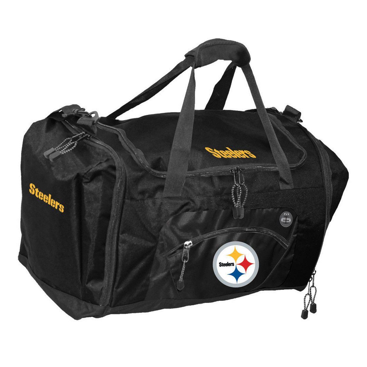 Road Block Duffle Bag NFL Gold Pittsburgh Steelers