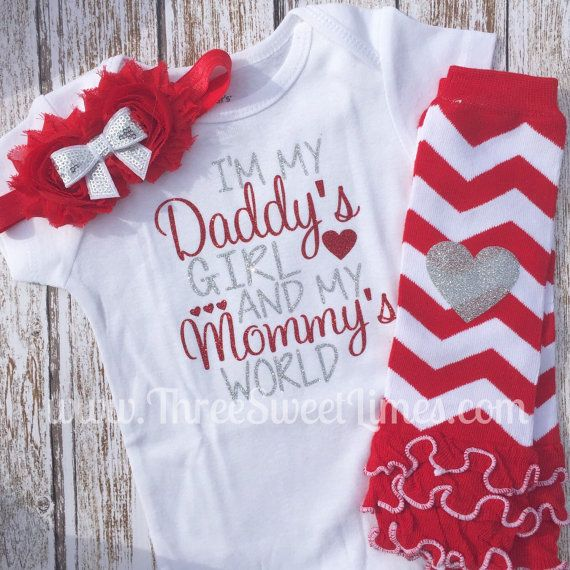 Baby Girl Clothes First Outfit Im My Daddys Girl In My