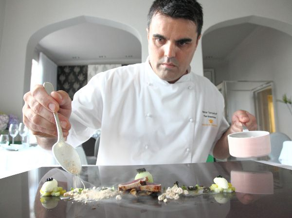 Chef Peter Templehoff at The Greenhouse in SA