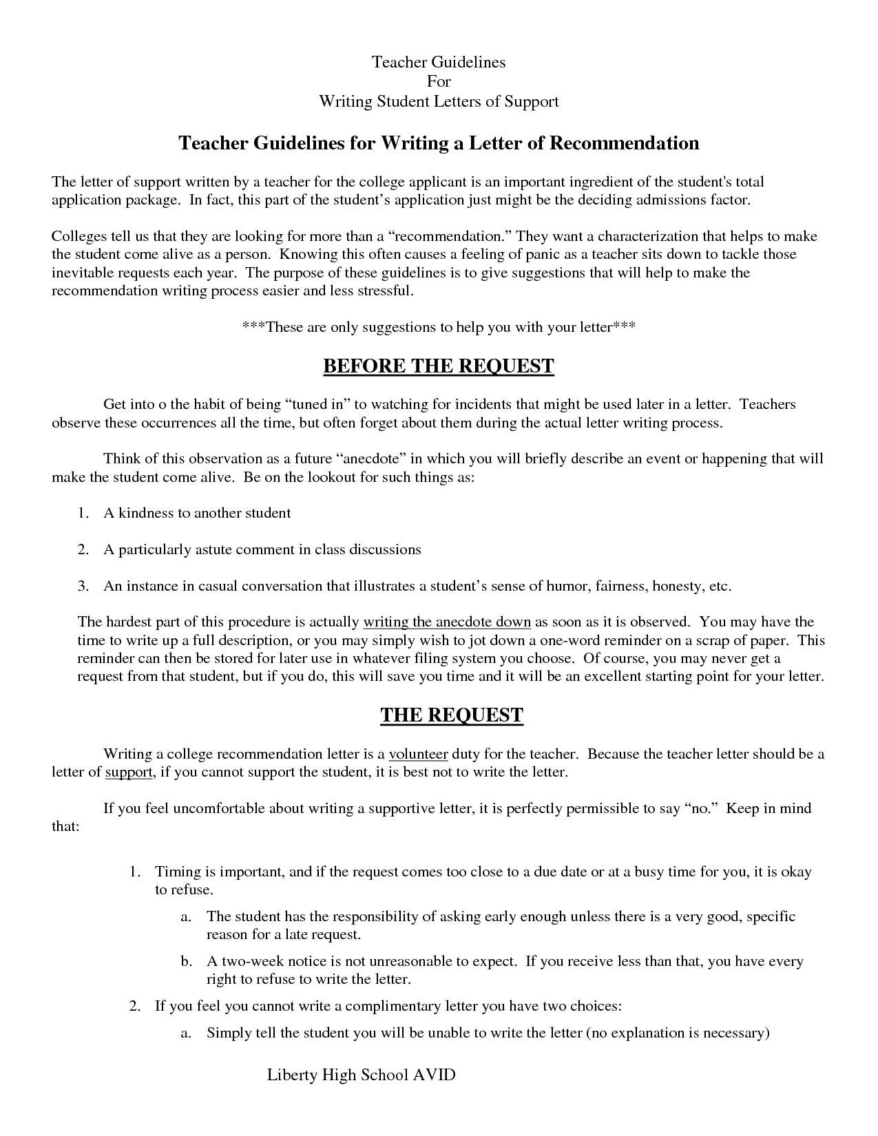Letter Of Recommendation Examples 8.sample Letter Recommendation Writtena Teacher  Resumes .