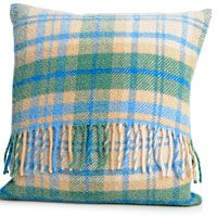 Cushion with Pad Pure New Wool 40x40cm Cottage Blue