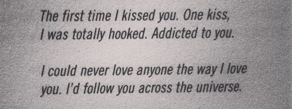 The first time I kissed you..