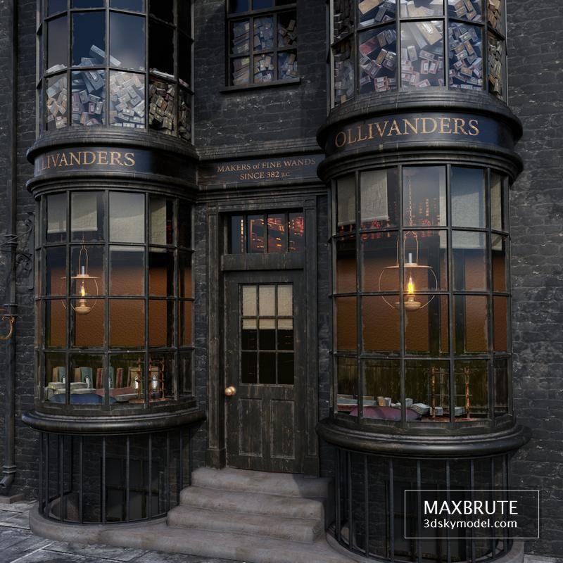 Ollivander S Wand Shop 3d Model Download Maxbrute Furniture Visualization Harry Potter Illustrations Harry Potter Diagon Alley Harry Potter Miniatures