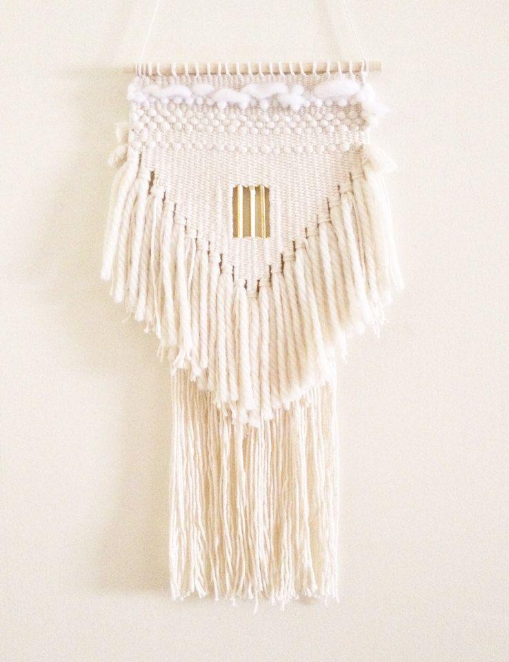 weaving wall hanging / white triangle no 3 / by HAZELANDHUNTER