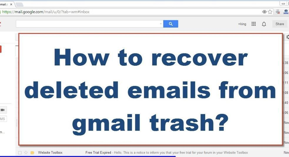 How To Recover Permanently Deleted Emails From Gmail Account Techliet Gmail Email Accounting