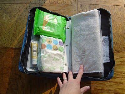 da porta cd a mini borsa per il cambio / turning cd case into a mini diaper bag