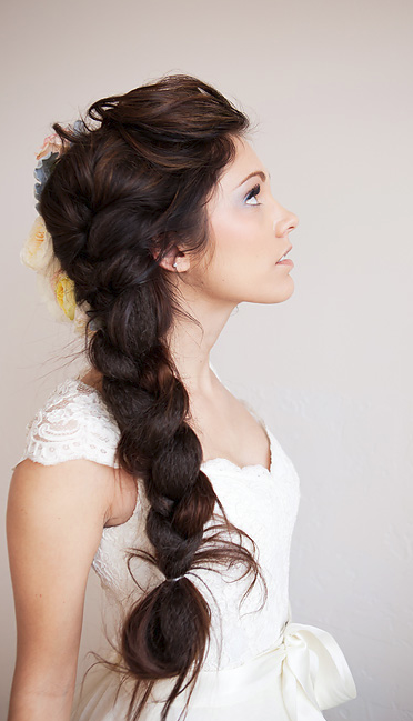 Side Braid Wedding Hairstyle Wedding Hair Ideas Pinterest Hair Styles Hair And Braided Hairstyles For Wedding