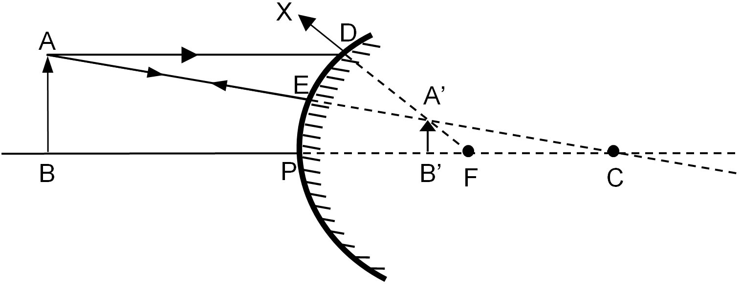 When The Object Is Placed Anywhere Between Pole And Infinity Convex Mirror Concave Mirrors Diagram Design