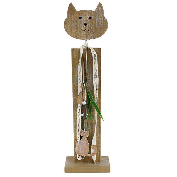 Große Sockel Figur Katze ~ Zum Stellen ~ Aus Holz ~ 49cm ~ GILDE Frühlings   Deko Frühling Fensterbank Deko Frühling Hauseingang Frühlingsdeko Frühlu2026