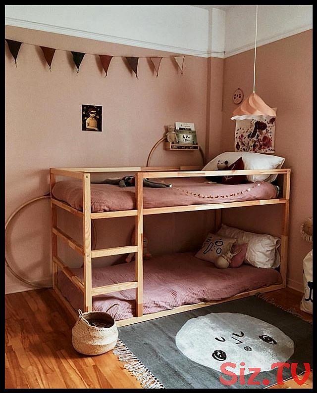 Kinderzimmer, Etagenbett, Mehrbettzimmer, pink, Holzboden