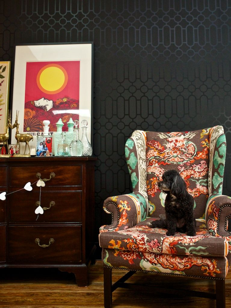 Superb Love This Dragon Print Chair By Spruce Upholstery