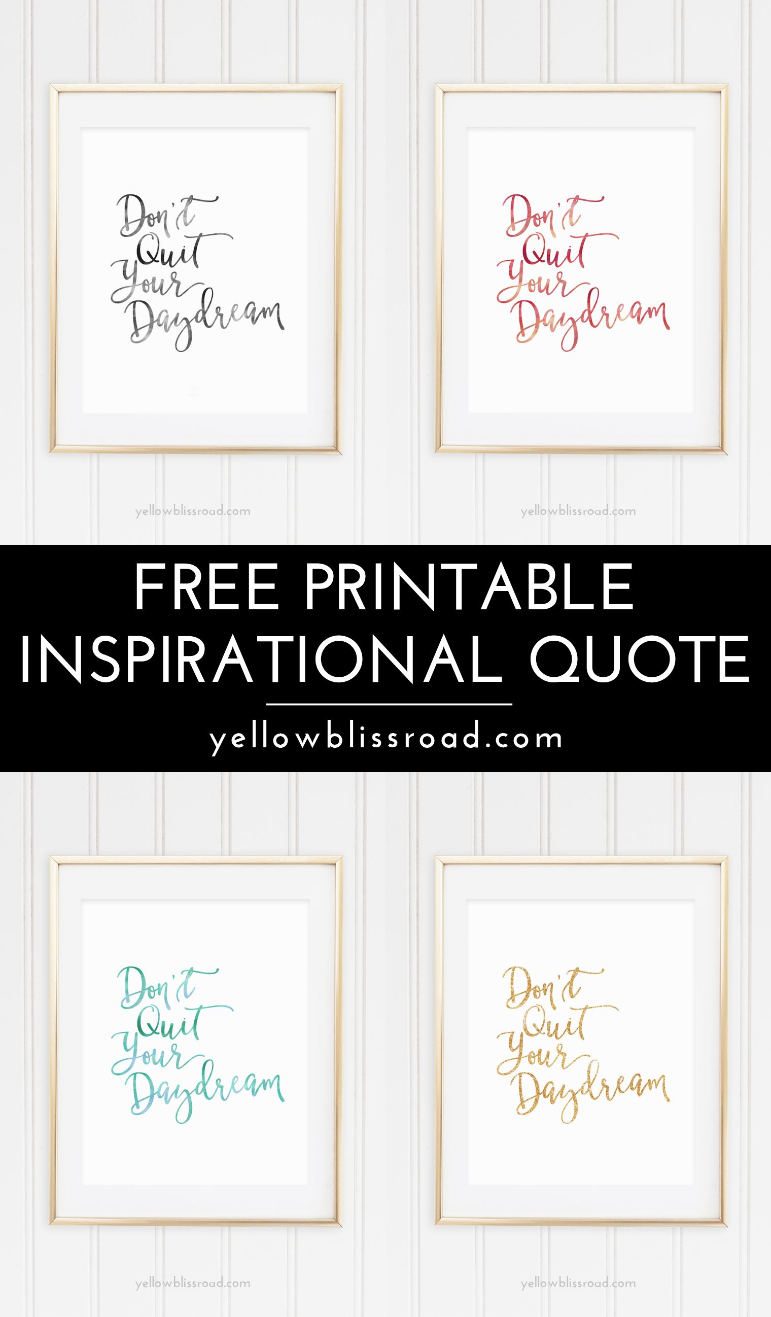 Free Inspiration Quote Printable