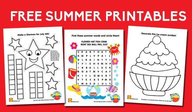 Printable Summer Activities Summer Words Summer Printables