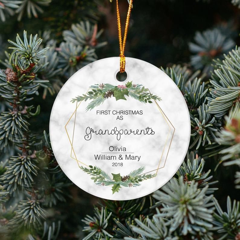 First Christmas As Grandparents - Personalized Ornament ...