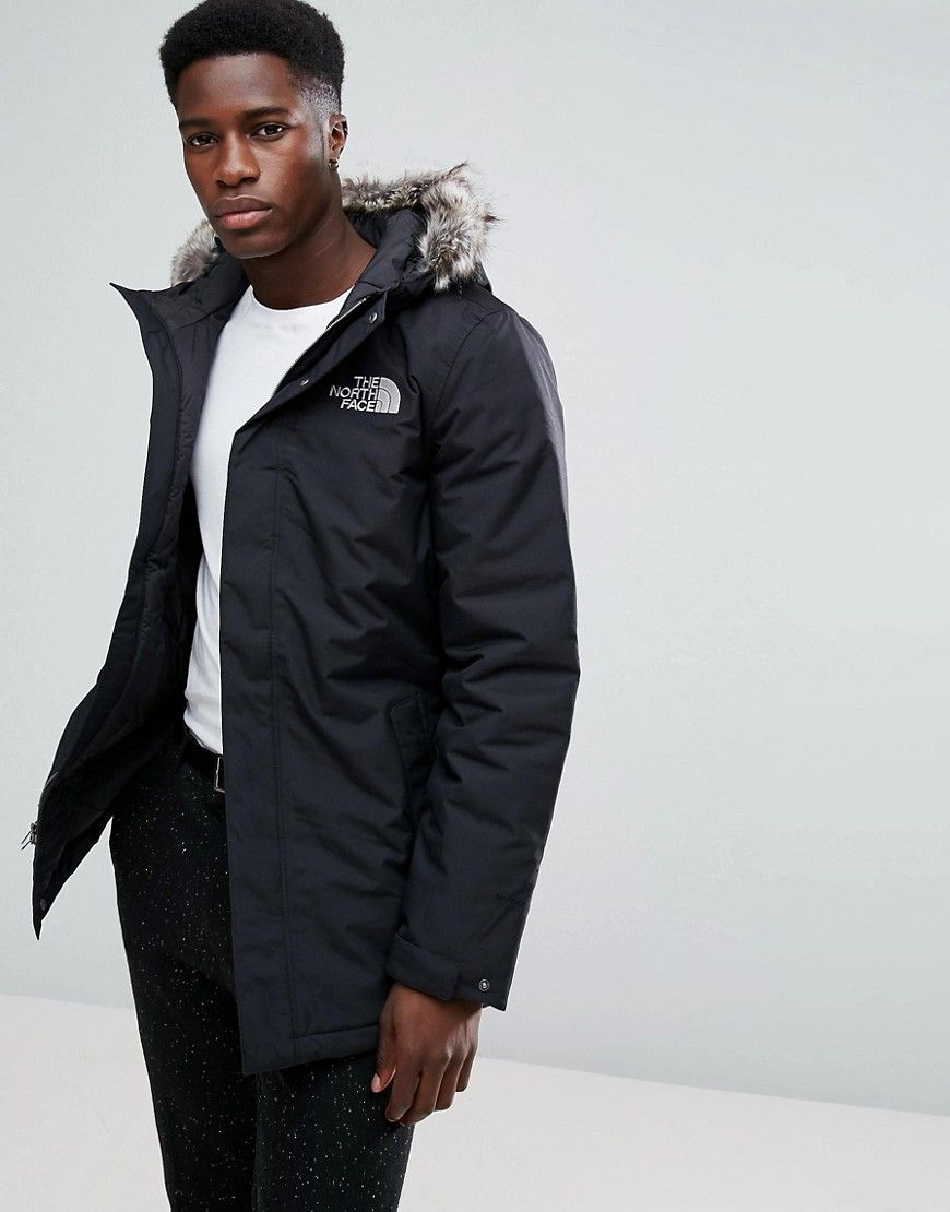 eb327d236 THE NORTH FACE ZANECK DETACHABLE FAUX FUR HOOD JACKET IN BLACK ...