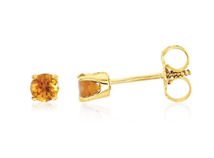 Fine Jewelry Genuine Yellow Citrine Diamond-Accent 14K White Gold Earrings Gb8fxoZf