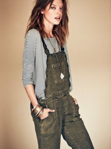 Free People Louisa Embroidered Overall