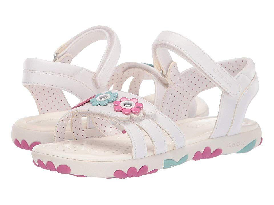 822bbfa29603 Geox Kids Haiti Girl 2 Sandal (Little Kid/Big Kid) Girl's Shoes ...