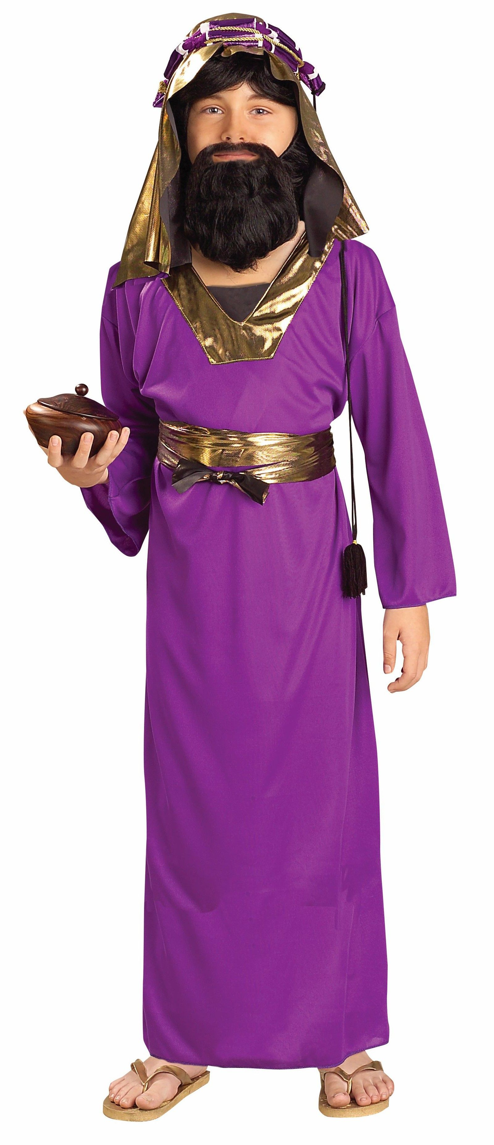 Children's Purple Wiseman Christmas Costume The Children