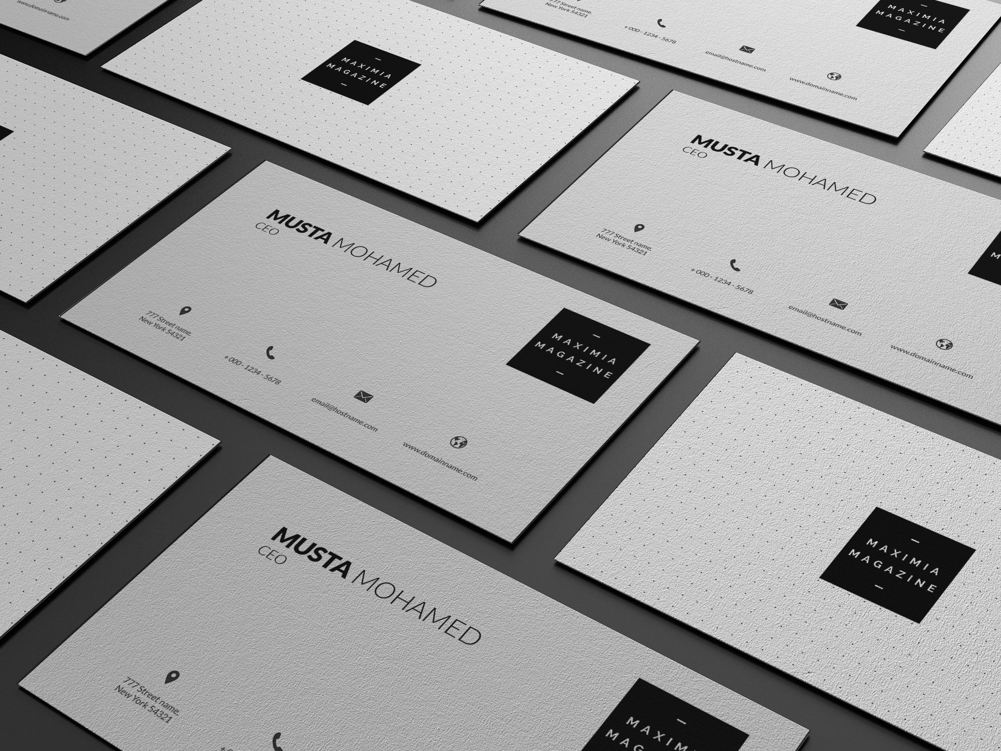 3 clean minimal business cards by mustaart on creativemarket