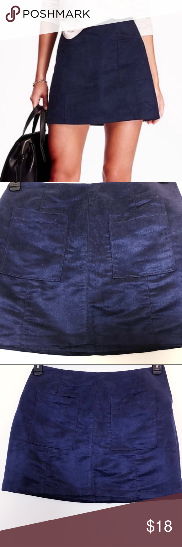 9bc8617c10c NWT Old navy faux suede mini skirt size6 New with tags old navy skirt in navy  blue faux suede The photo doesn t do justice how beautiful it is.