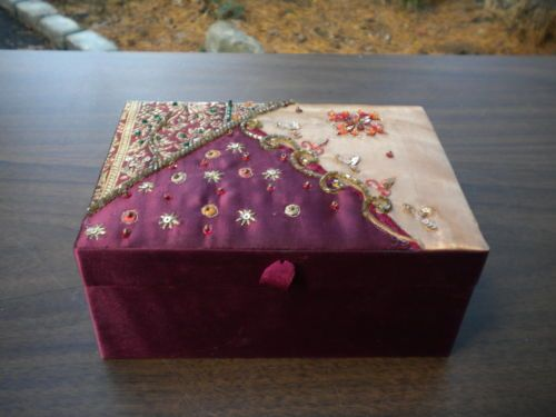 Indian Fabric Embroidered Jewelry Box Stuff to Buy Pinterest
