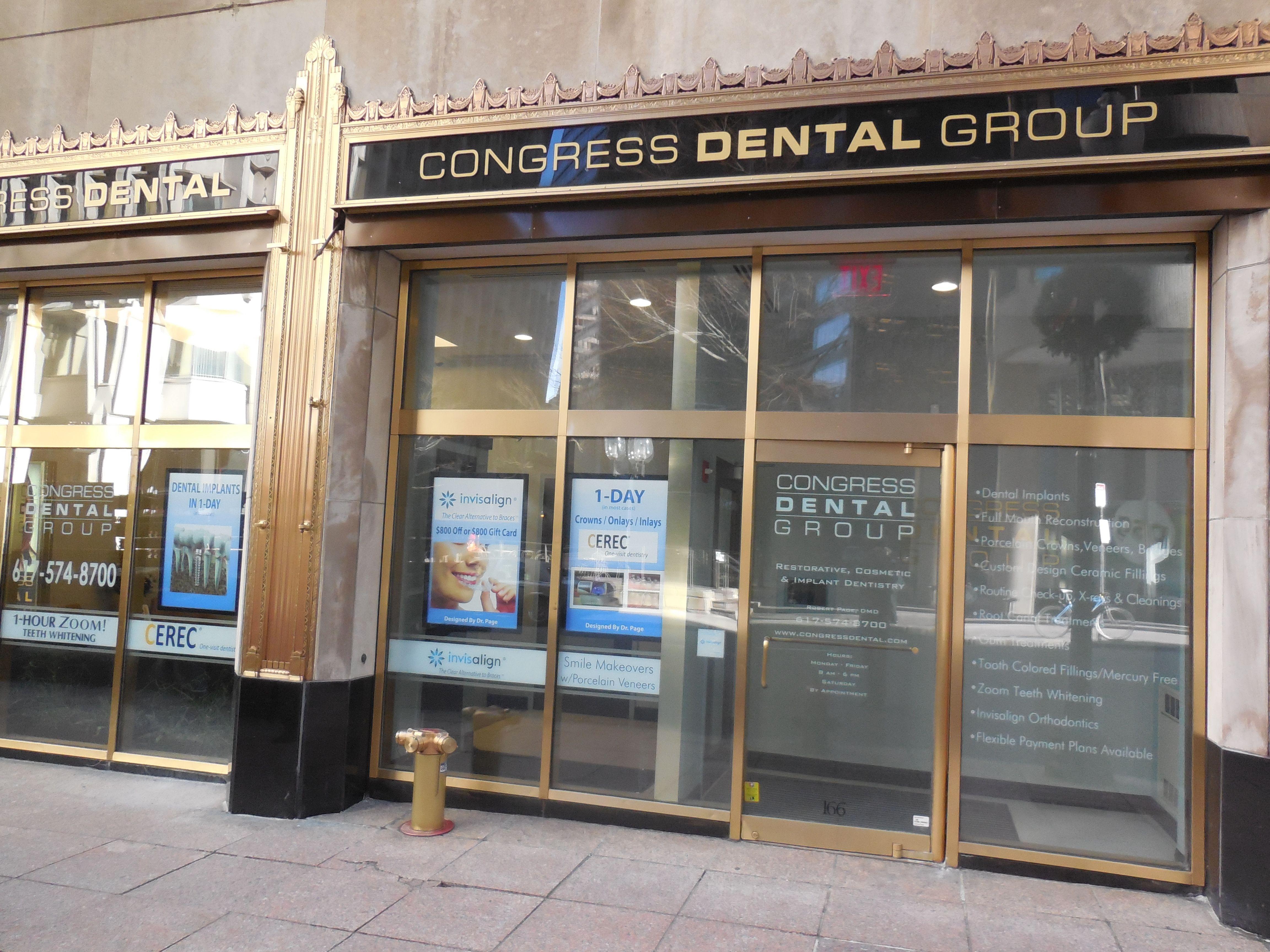 Congress Dental Group 160 Federal St Boston, MA 02110. Phone: (617) 574-8700 http://congressdentalgroup.com
