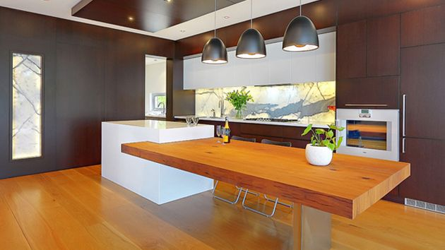 15 Beautiful Kitchen Island With Table Attached Home Design Lover Kitchen Design Small Kitchen Island Dining Table Kitchen Island Table