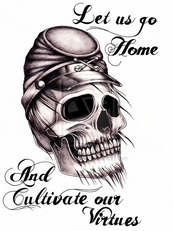 Skull Tattoos Ideas for robert on pinterest confederate ...