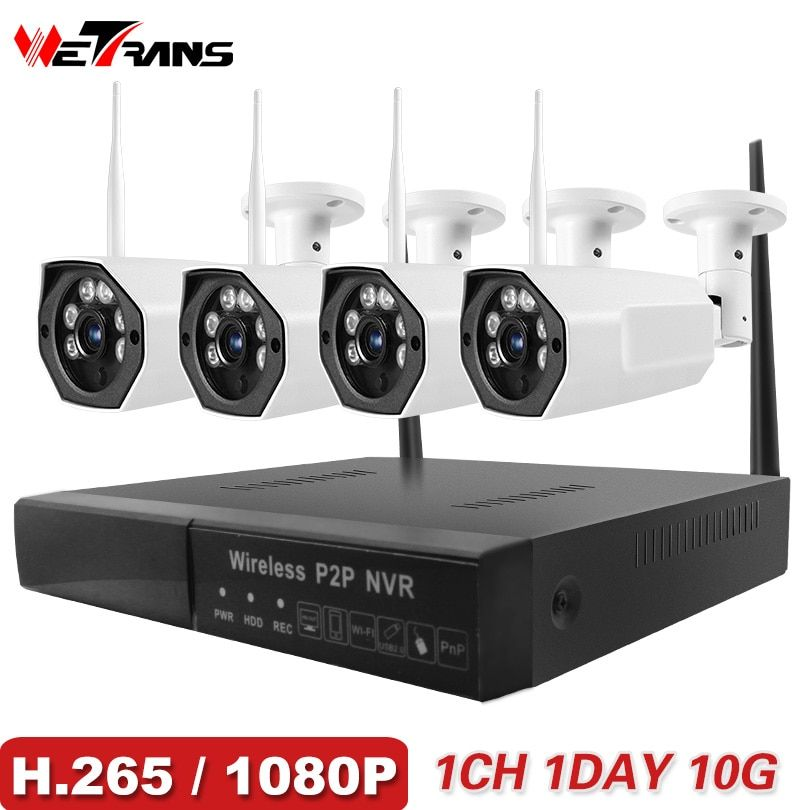 Wetrans Cctv Camera System 2018 New 1080p Hd H 265 Security Ip Camera Outdoor Wifi Nvr Kit Video Surve Cctv Camera Wireless Security Cameras Video Surveillance