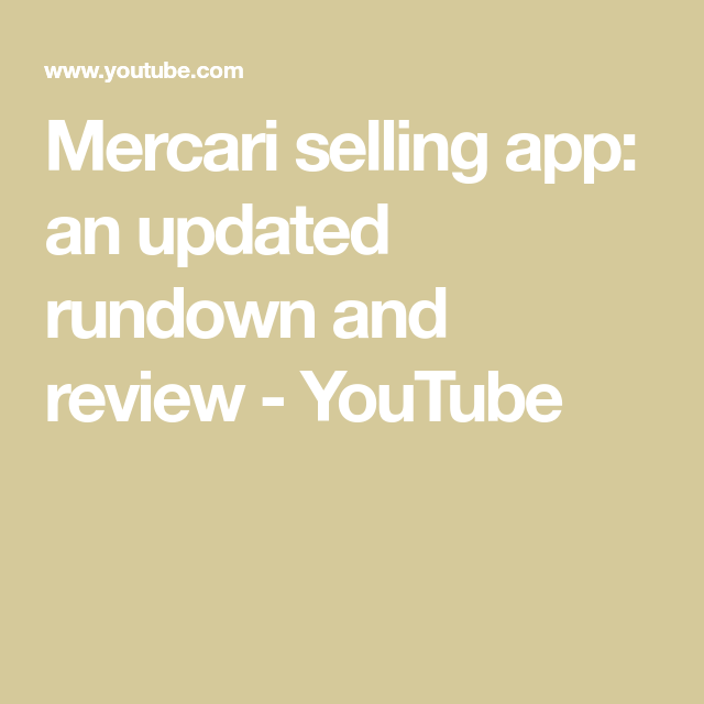 Mercari selling app an updated rundown and review
