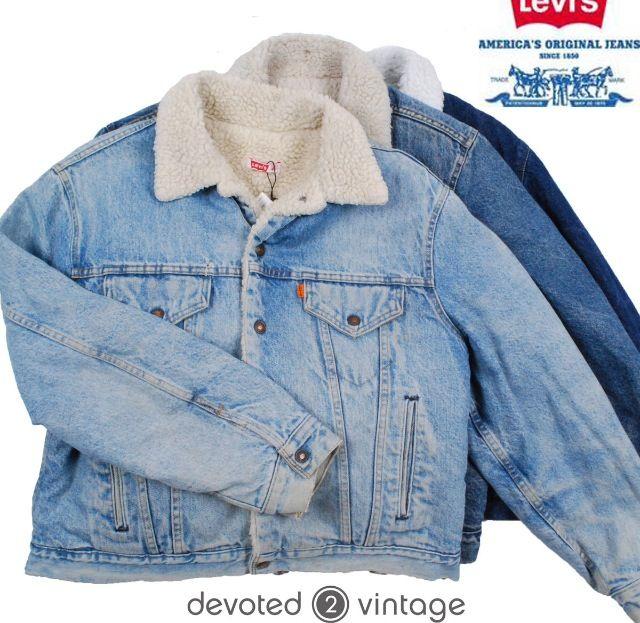 Levi Shearling Jacket Ebay I Want Pinterest Jackets Denim