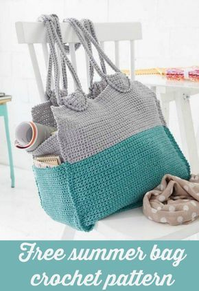 Summer Crochet Bag Free Pattern Single Crochet Easy Crochet And