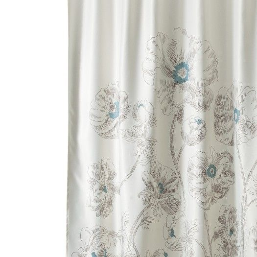 Target Threshold Floral Shower Curtain In Aqua Well Be Painting The Bathroom Walls