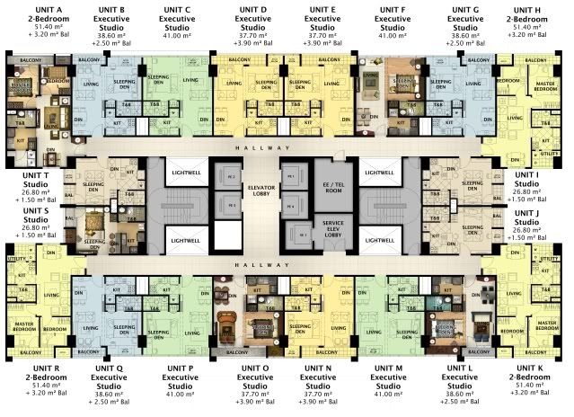 A New Megaworld Residential Condominium Property Rises At Legaspi Village Be One Of The First To Own Condominium Floor Plan Condo Floor Plans Hotel Room Plan