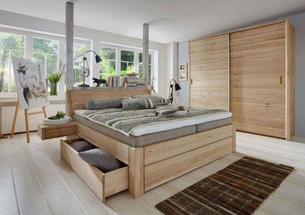 Schubladenbett Easy Sleep + Hängekonsolen +2 Schubladen