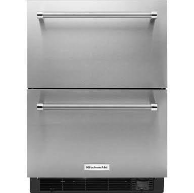 Kitchenaid 24 Stainless Steel Refrigerator Freezer Drawer Kudf204esb Refrigerator Drawers Undercounter Refrigerator Kitchen Aid