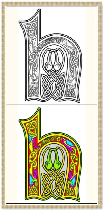 celtic coloring book 26 printable coloring pages outlines color examples instant download celtic alphabet coloring pages - Celtic Coloring Book