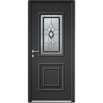 Porte D Entree Sur Mesure En Aluminium Utah Vitrail Artens Leroy Merlin Porte D Entree Portes Entree