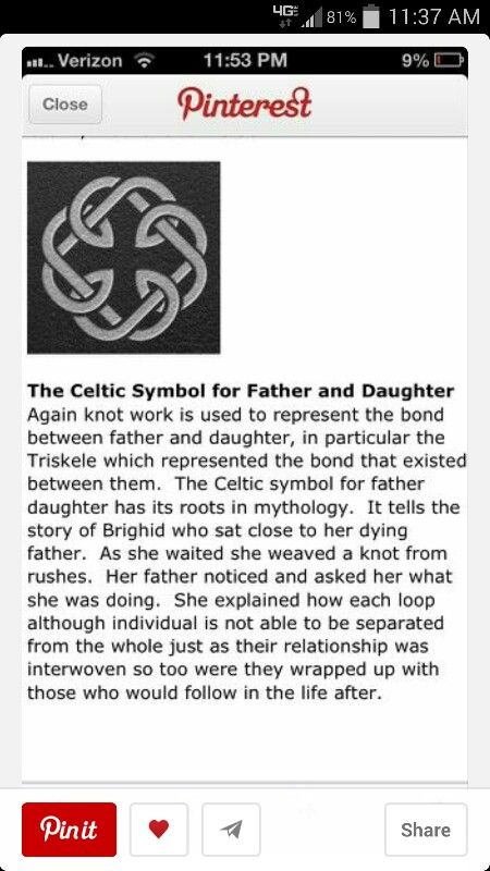 Celtic Symbol For Father And Daughter Irishceltic Pinterest