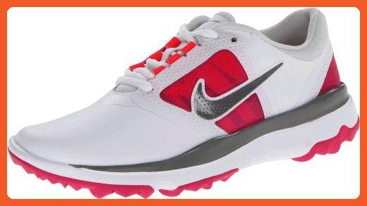 0204b4a9c5c4a NIKE Golf Women's FI Impact Golf Shoe, White/Grey/Vivid Pink, 5 B(M ...
